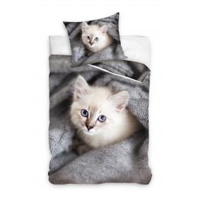 Kinderbettwäsche 200x135 + 80x80 Katze 2