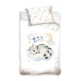 Kinderbettwäsche 100x135 + 60x40 Waschbär