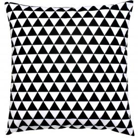 Kissenbezug 40x40 Baumwolle Schwarz Weiß Dreiecke