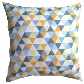 Kissenbezug 40x40 Geometrisch Gelb Grau