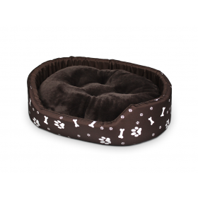 Hundebett Katzenbett Premium Braun