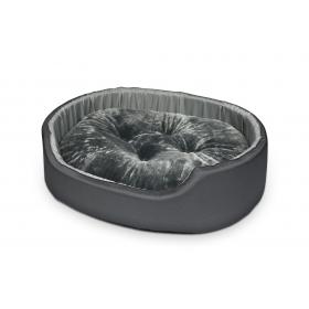 Hundebett Katzenbett CLASSIC Grau mit Hellgrau