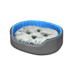 Hundebett Katzenbett CLASSIC Grau mit Blau