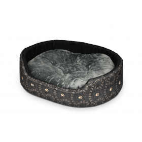 Hundebett Katzenbett CLASSIC mit Beigem Muster