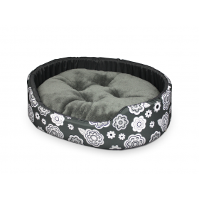 Hundebett Katzenbett Premium Blumig Muster