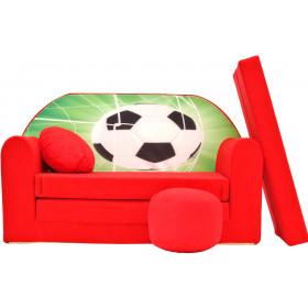 Kindersofa rot Fußball OEKO-TEX class I