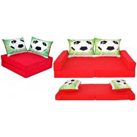 Kindermatratze rot Set + 2 Kissen