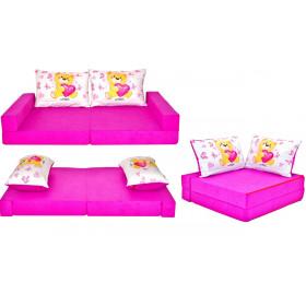 Kindermatratze rosa Set + 2 Kissen viele Muster