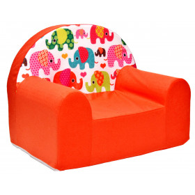 Kindersessel orange viele Muster