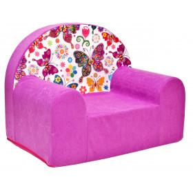 Kindersessel rosa viele Muster