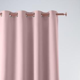 Vorhang AURA Ösen Rosa 140x250