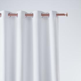 Vorhang AURA Ösen Weiß 140x250