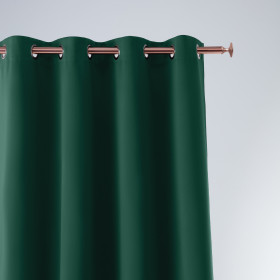 Vorhang AURA Ösen Bottle Green 140x260