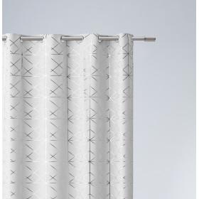 Vorhang GLAMMY Ösen Weiß 140x250