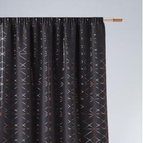 Vorhang GLAMMY Band Schwarz 140x250