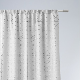 Vorhang GLAMMY Band Weiß 140x250